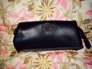 Genuine leather clutch bag