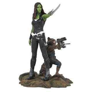 (Clearance) Marvel Guardians of The Galaxy Vol. 2 Gamora & Rocket Raccoon Diamond Gallery PVC Statue
