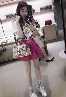 Topshop silk pink dress