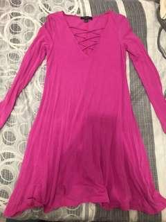 Surplus lace up pink dress