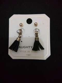 Black tussel earrings