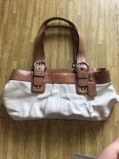 Authentic Coach Bag (preloved)- White Leather