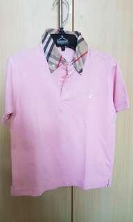 Worn Burberry boys polo shirt
