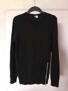 #BlackFriday100 Black Sweater with side zippers