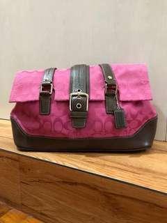 Preloved Authentic Coach Bag- Signature Canvas Fuschia Pink