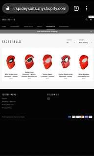 Spider-man Faceshell with lenses