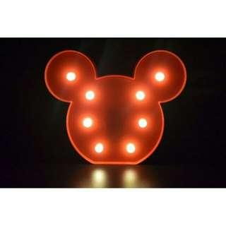Mickey Mouse Night Lamp (Red and Black Colors)
