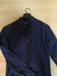 New Crocodile dark blue shirt