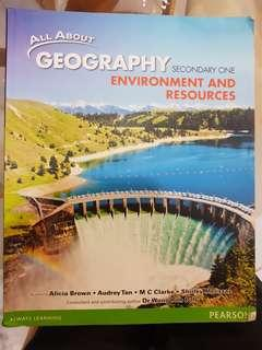 All About Geography Environment and Resources Sec 1 Textbook