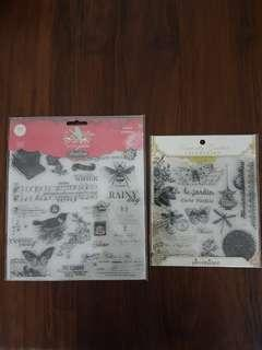 Clear stamps by Pink Paislee