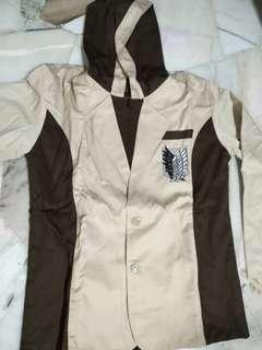 Attack on Titan Cosplay Costume Suit Outerwear Hoodie Jacket