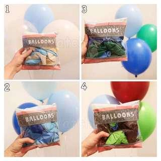 "🚚 Clearance sales 30pcs 12"" Latex Balloon Theme Pack Party Decoration Goodies Bag"