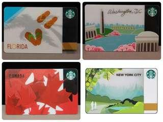 Starbucks Cards USA collectibles