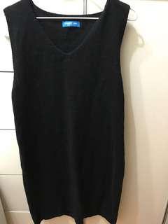 黑色 背心針織裙
