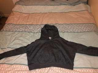 Cotton On Charcoal Cropped Hoodie