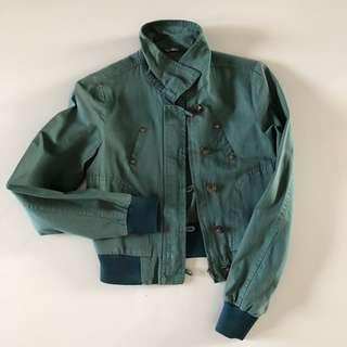 Olive Green Denim Jacket