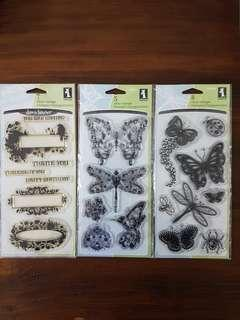 Clear stamps by Inkadinkado