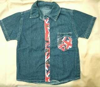 Baju kemeja jeans 3-4 tahun