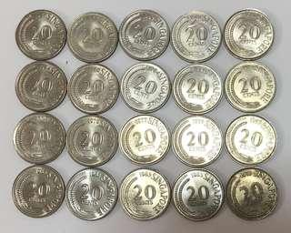 Old 50 & 20 cents SG Coin