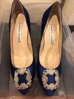 Fashion Blue heels with crystal