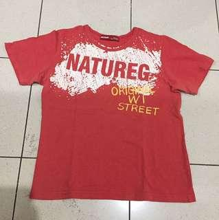 Kaos Merah Natureg Nature Original Oblong Santai Baju