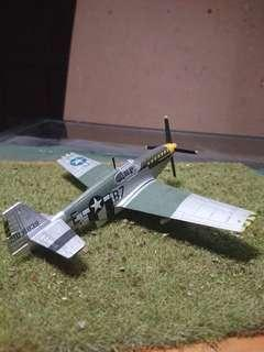 U. S. P-51 Mustang fighter on summer Base in 1/72 scale
