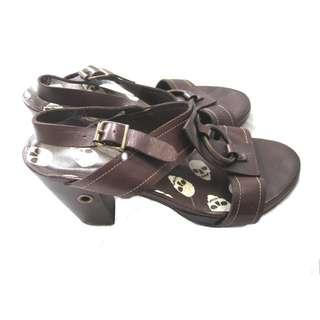 US Leather Low Heels