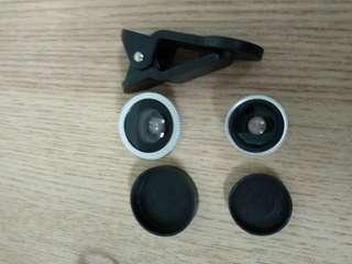 Fisheye lens with clip on