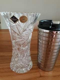 Preloved Bohemia Crystal Flower Vase