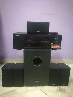 Denon AVR-X500 Home Theater with 5.1 speakers