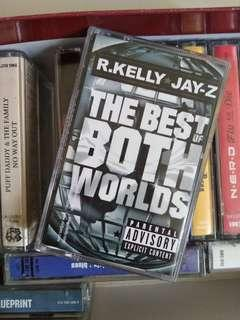 "Jay Z and R Kelly ""the best of both worlds"" kaset cassette 2002"