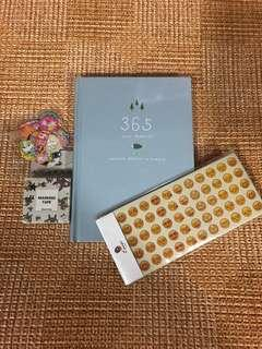 365 Planner bundle - book/ stickers / washi / flakes