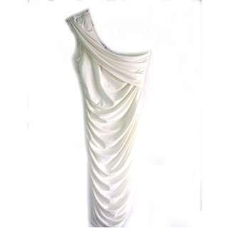US White One Shoulder Dress