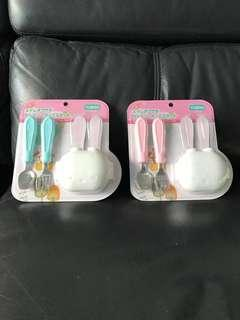 <Bundle of 2> Toddler Dining Fork & Spoon Set