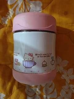 Used Hello Kitty Thermos Food Jar