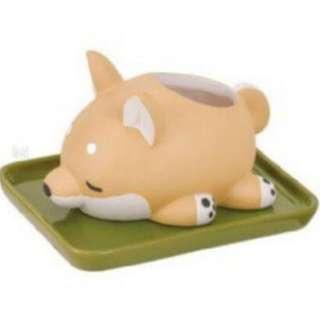 """🚚 (現貨)特""""療癒系小動物造型陶瓷加濕器-柴犬 加溼器"""