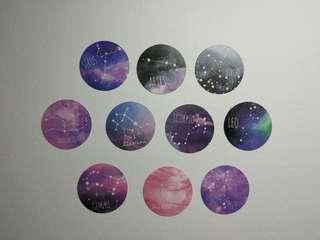Zodiac sign stickers