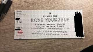 [URGENT WTS] BTS LOVE YOURSELF IN SG TICKET