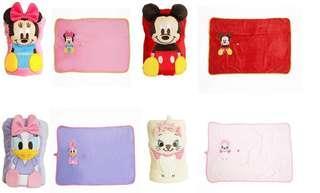 日本直送 Disney2合1公仔毛毯