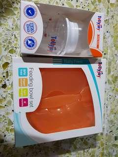 Tollyjoy Feeding bottle and bowl set