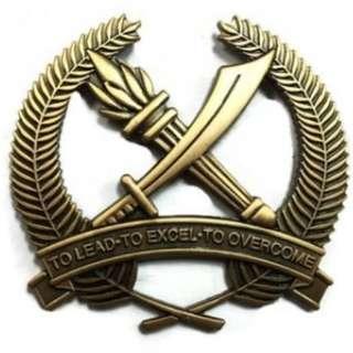 Officer Cadet School OCS Singapore Bronze Crest