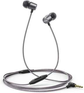Anker SoundBuds Verve Built-in Microphone in Ear Stereo Wired Headphones (Gray)