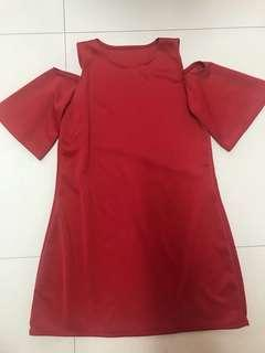Red bakuna dress
