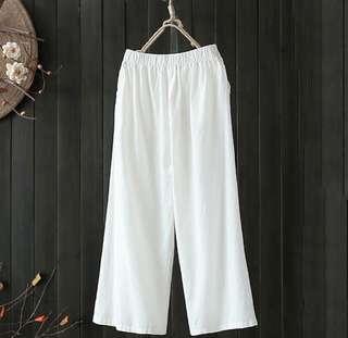 Loose white culotte
