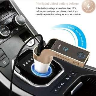FM Bluetooth Car Transmitter & Charger - connect your smart phone/ipad/ipod/android tablet/mp3 player etc with your Car FM radio