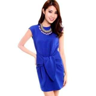 🚚 MDS Tie Front Dress In Royal Blue