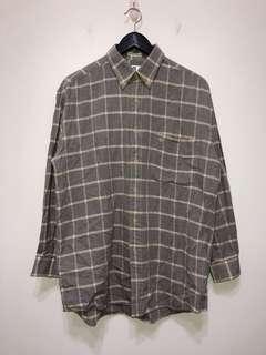 伏見古著 法國品牌 PB 灰格紋襯衫 vintage