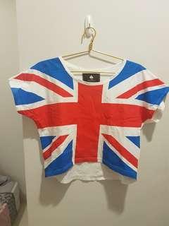 Crop Top Graphic Bendera Inggris