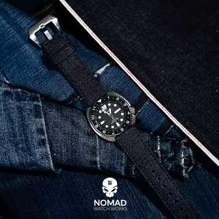 🚚 Japanese Dry Denim Watch Strap (Available in 20, 22 and 24mm)