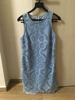 Size L TSW baby blue dress